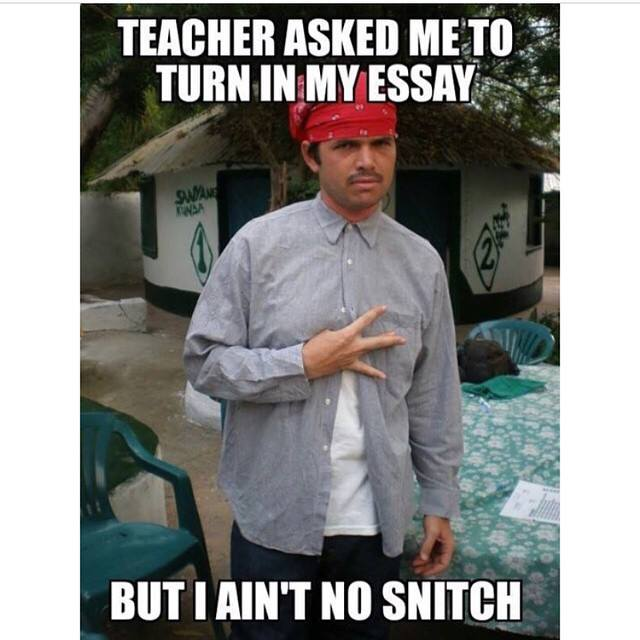 i ain t no snitch essay help